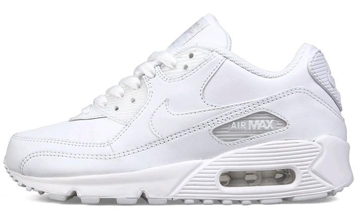 all white air max 90s